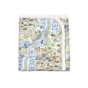 ORGANIC COTTON - Denver Map Baby Blanket