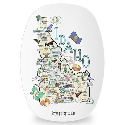 Custom Idaho Map Platter