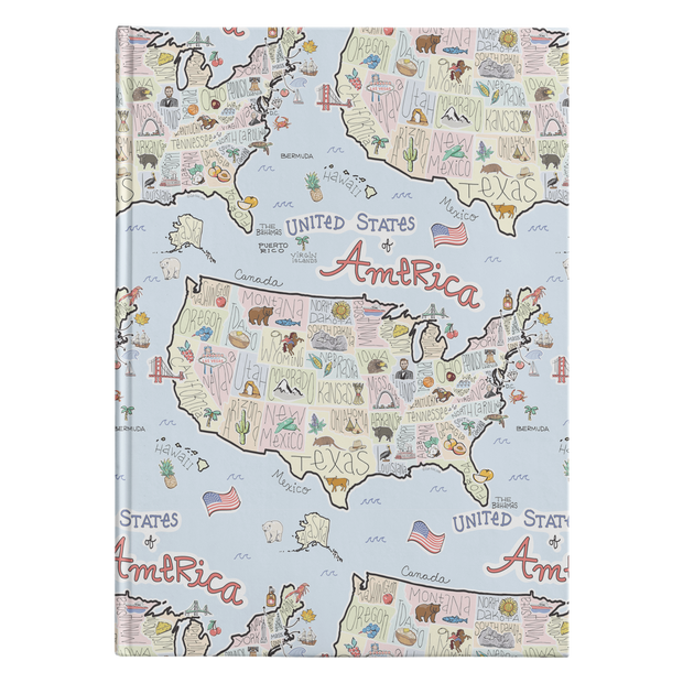 America Map Journal