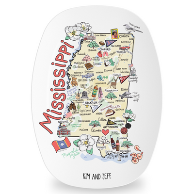 Custom Mississippi Map Platter