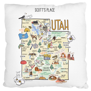 Custom Utah Map Pillow