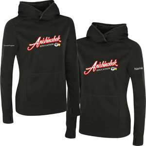 Ladies AEI Twill Front Performance Hood With Name and Course/Program