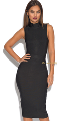 Luxa Black Bandage Dress - Showroom Glam  - 1