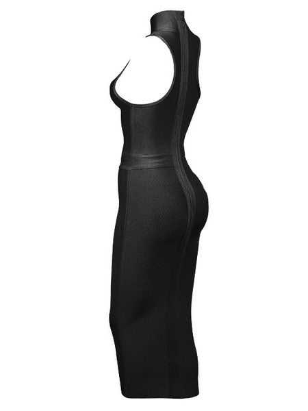 Luxa Black Bandage Dress - Showroom Glam  - 5