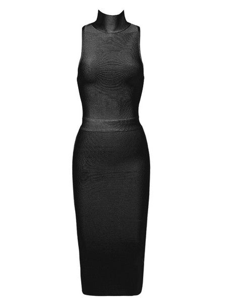 Luxa Black Bandage Dress - Showroom Glam  - 4