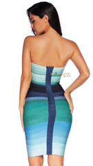 Ombre Bandage Dress Blue - Showroom Glam  - 3