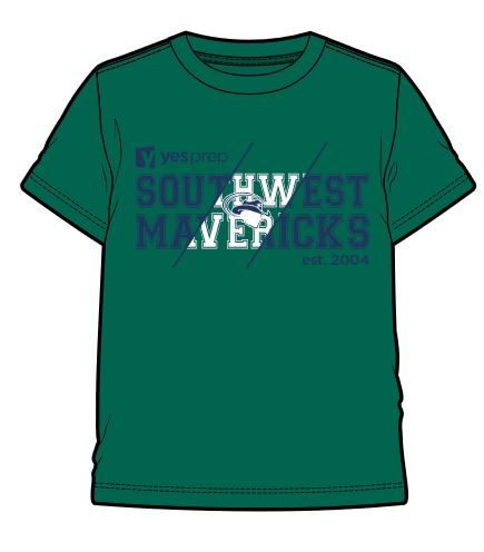 Southwest Spirit Shirt, Kelly Green
