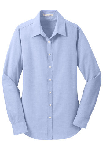Clearance Brays Oaks Ladies Button Down Shirt, Oxford Blue