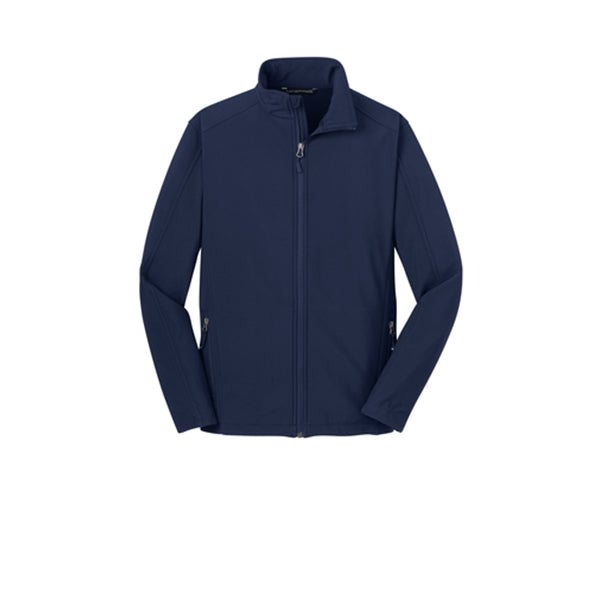 Youth Universal Soft Shell Jacket, All Campus Logo, Navy