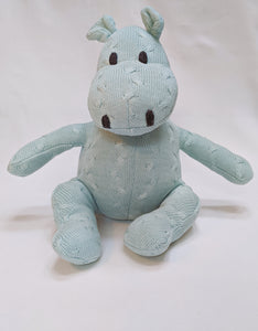 Cable Knitted Mint Hippo