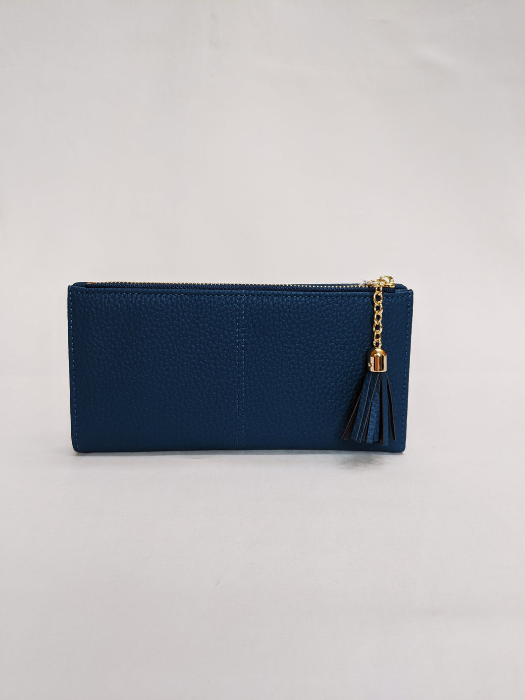 Pom, large Teal Wallet Purse with Tassel