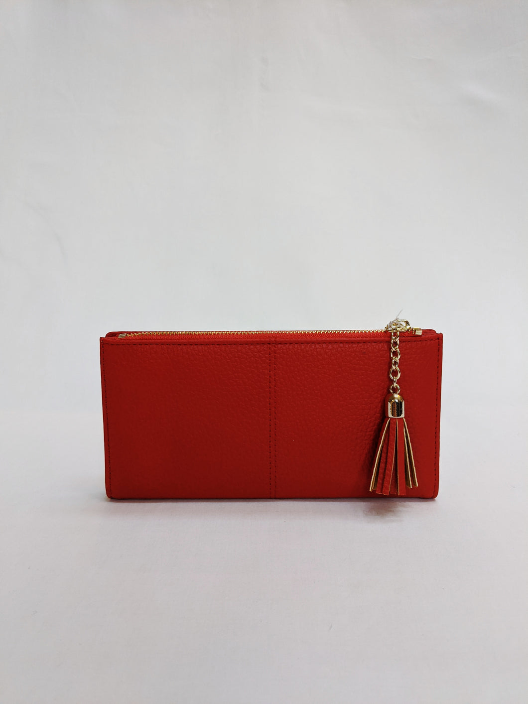 Pom, Large Red Wallet Purse with Tassel