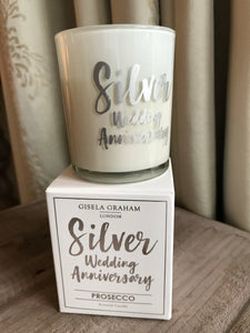 Silver Anniversary Mini Scented Boxed Candle