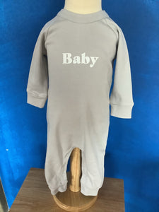 Bob & Blossom Mouse Grey Baby All-in-One size 3-6 months