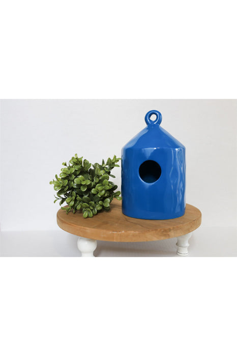 Blue Blank Ceramic Birdhouse