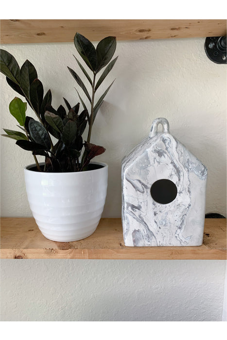White Marble Silver Foil House