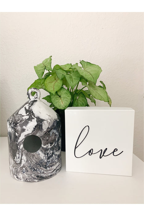 Limited Marble Birdhouse By Kathy Diep
