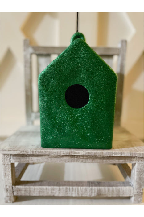 Green Glitter Square House