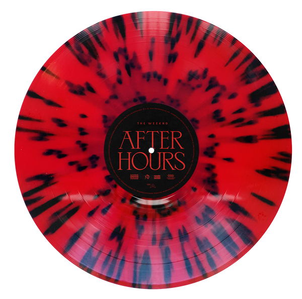 "VINYLE | THE WEEKND ""AFTER HOURS"" Vinyle couleur rouge noir"
