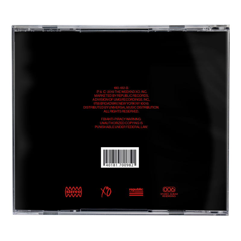 "CD STANDARD | THE WEEKND ""AFTER HOURS"""