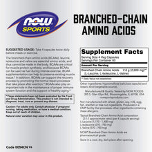 Load image into Gallery viewer, Branched Chain Amino Acids 240 caps