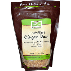 Ginger Dices- No Sulfur Organic 1Lb