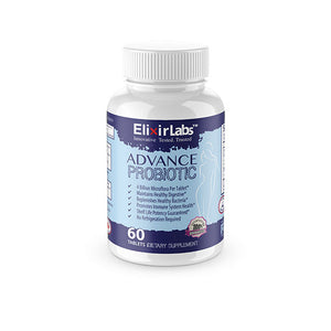 Botteles of Advance Probiotic with 60 tablets dietary supplement