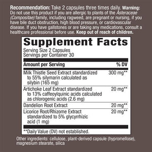 Milk Thistle X supplements fact