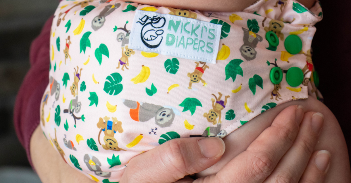 Monkey and Sloth Cloth Diaper