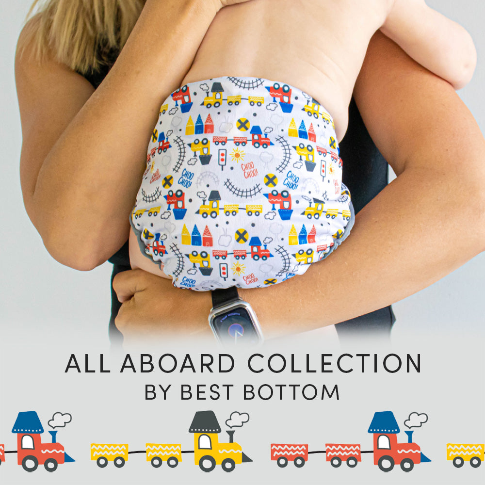 All Aboard Cloth Diaper Collection by Best Bottom Diapers