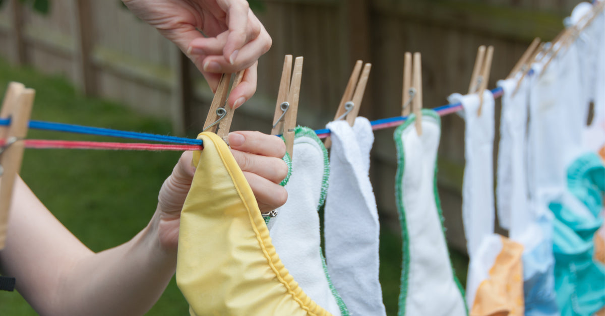 how to dry cloth diapers after hand washing