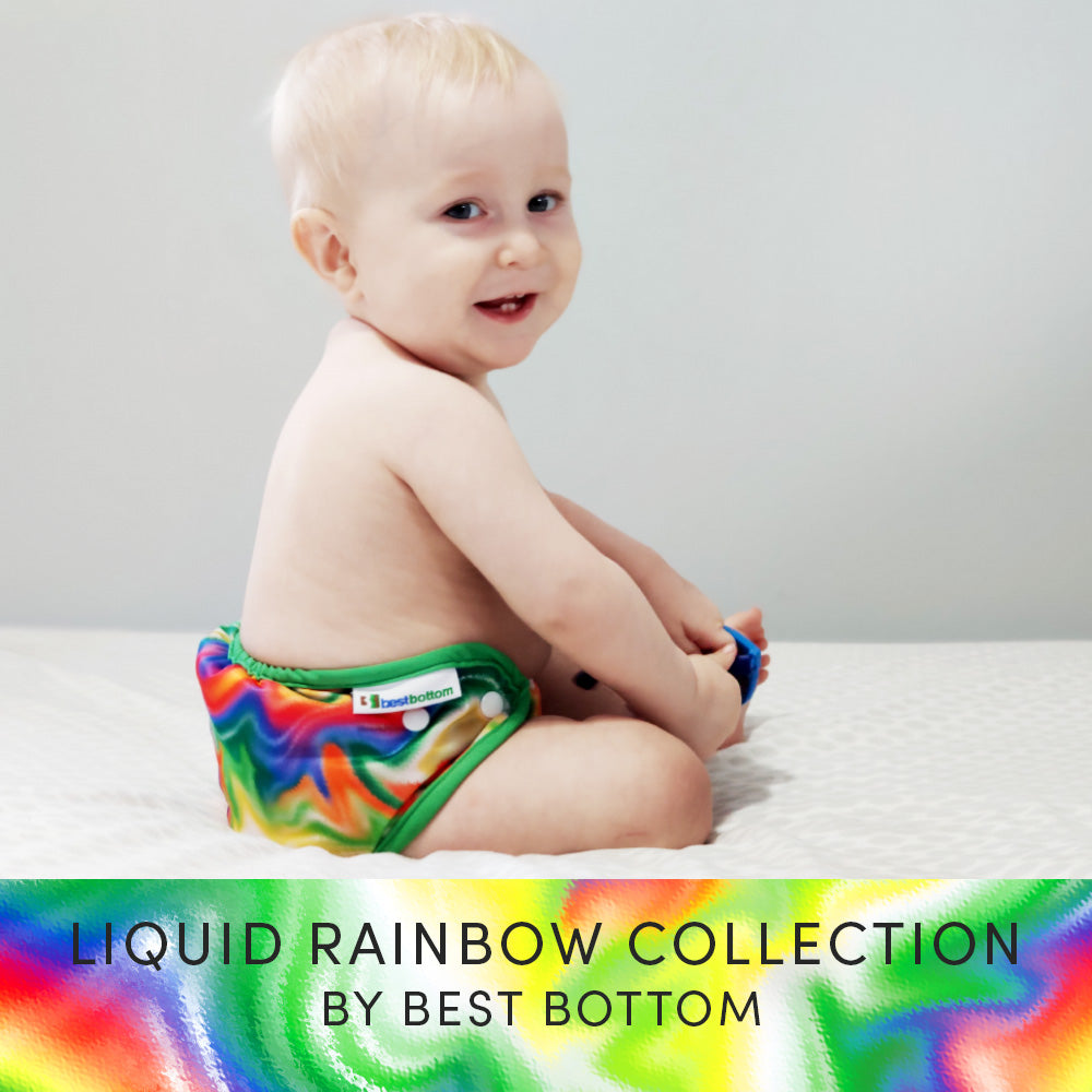 Liquid Rainbow Cloth Diaper Print Collection by Best Bottom Diapers