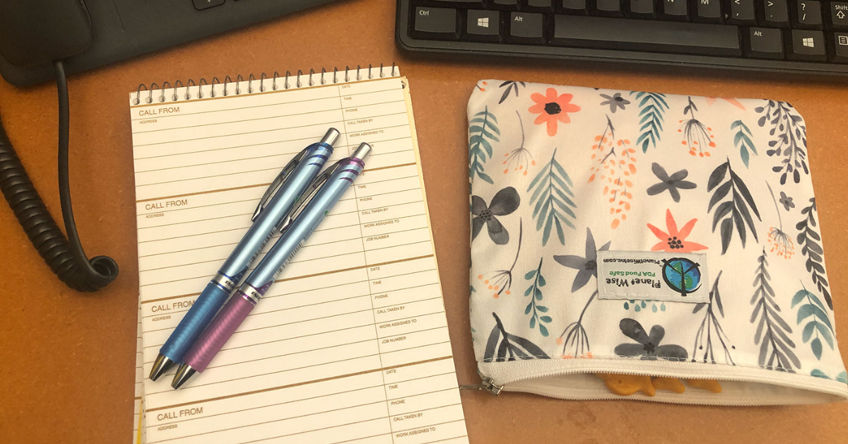 Planner with Pen and Snacks