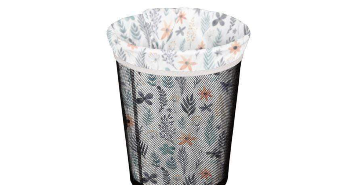 garbage can with reusable liner