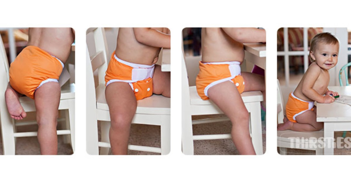 child wearing one size Pocket cloth diaper