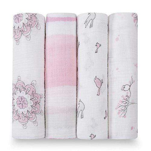 Aden & Anais Cotton Muslin Swaddle 4 pack - For the Birds