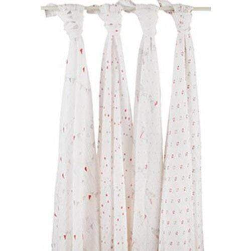Aden & Anais Cotton Muslin Swaddle 4 pack - Make Believe
