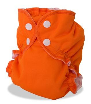 AppleCheeks Envelope Diaper Cover - Orange You Glad Size 1