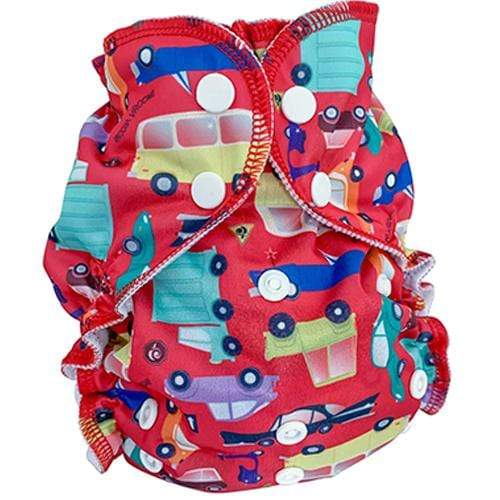 AppleCheeks One Size All-In-One Diaper - I Car - Nicki's Diapers