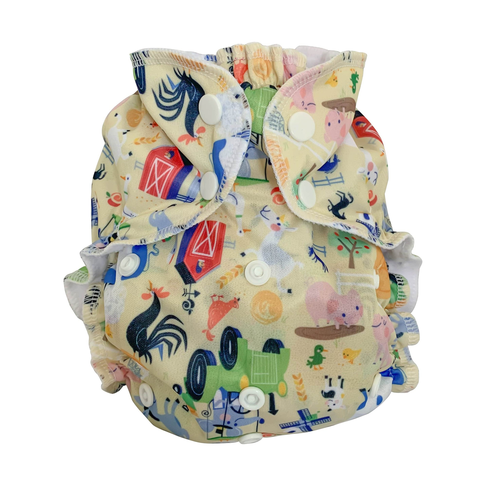 AppleCheeks One Size Envelope Diaper Cover - Till The Cows Come Home One Size