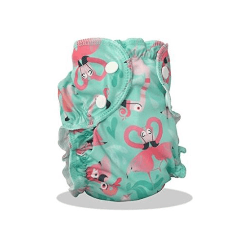 AppleCheeks Swim Diaper - flamingo