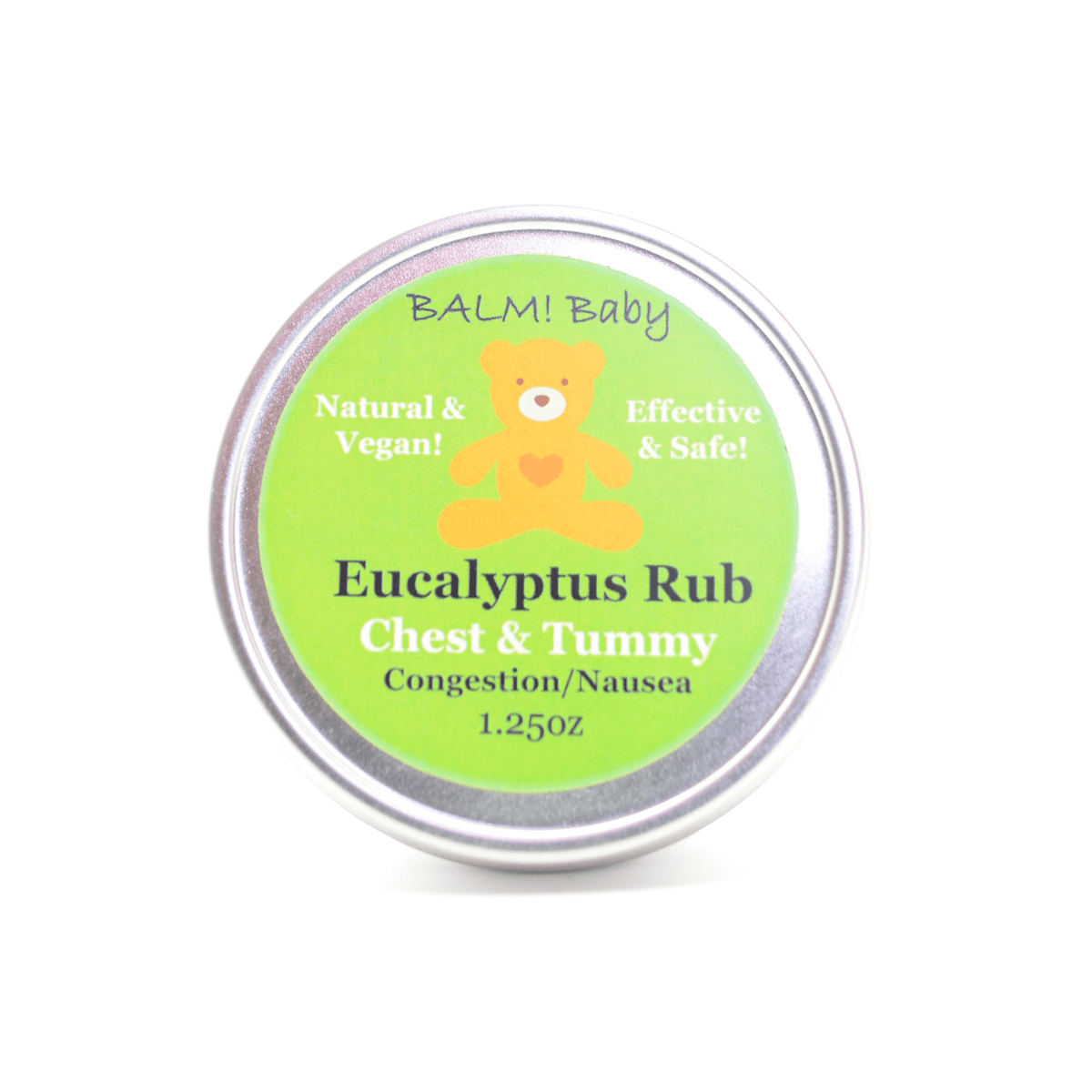Balm! Baby Eucalyptus Clearing Rub .5 oz Travel Tin - Eucalyptus