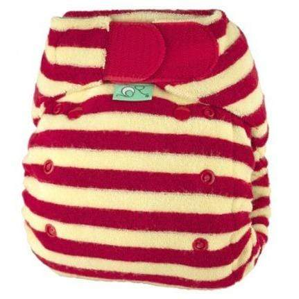 Bamboozle Stretch Fitted Diaper - Berry Size 1