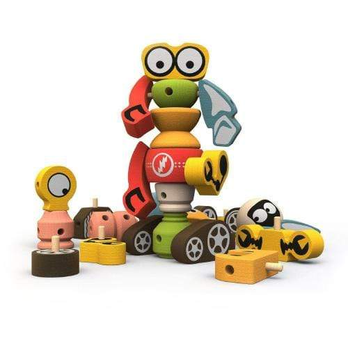 Begin Again Toys Tinker Totter - Robots Playset and Game