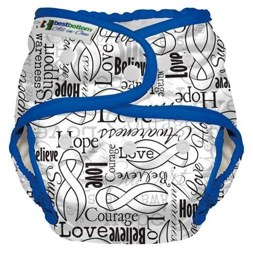 Best Bottom All In One Diaper - Blue RIbbons