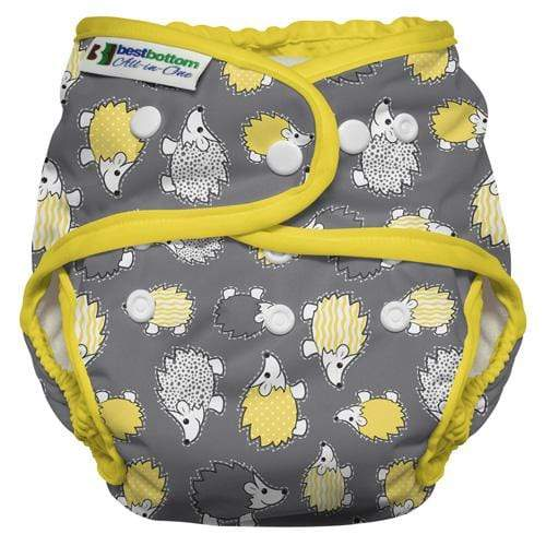 Best Bottom All In One Diaper - Hedgehog One Size