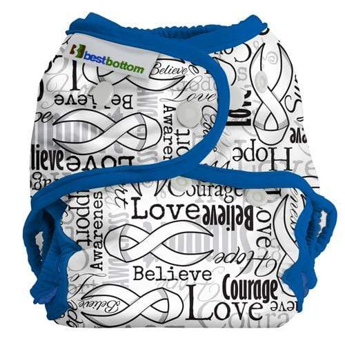 Best Bottom All In Two Diaper Cover - Blue RIbbons