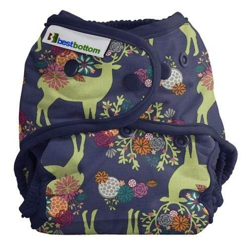 Best Bottom All In Two Diaper Cover - Caribou Bloom One Size