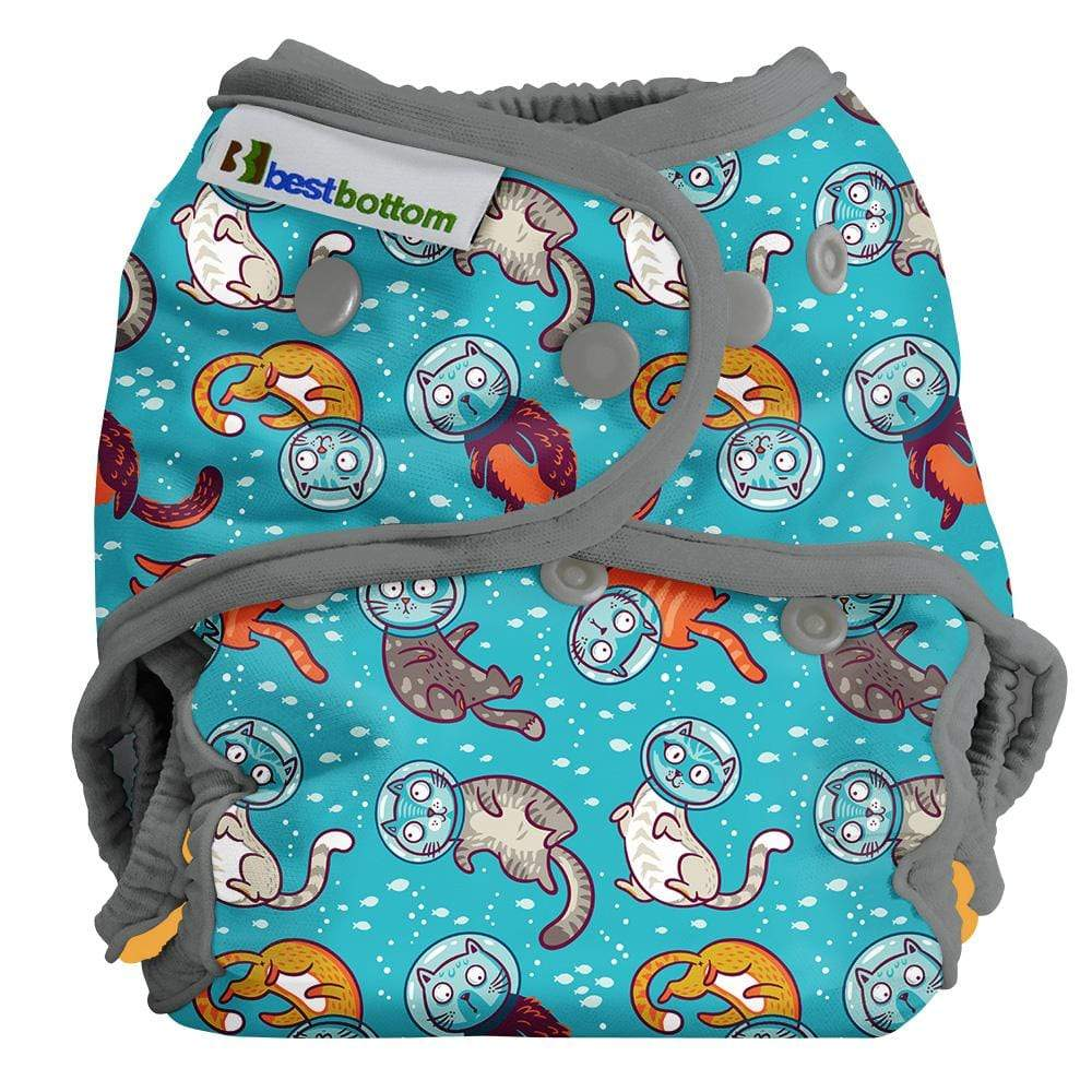 Best Bottom All In Two Diaper Cover - Cat-a-strophic One Size