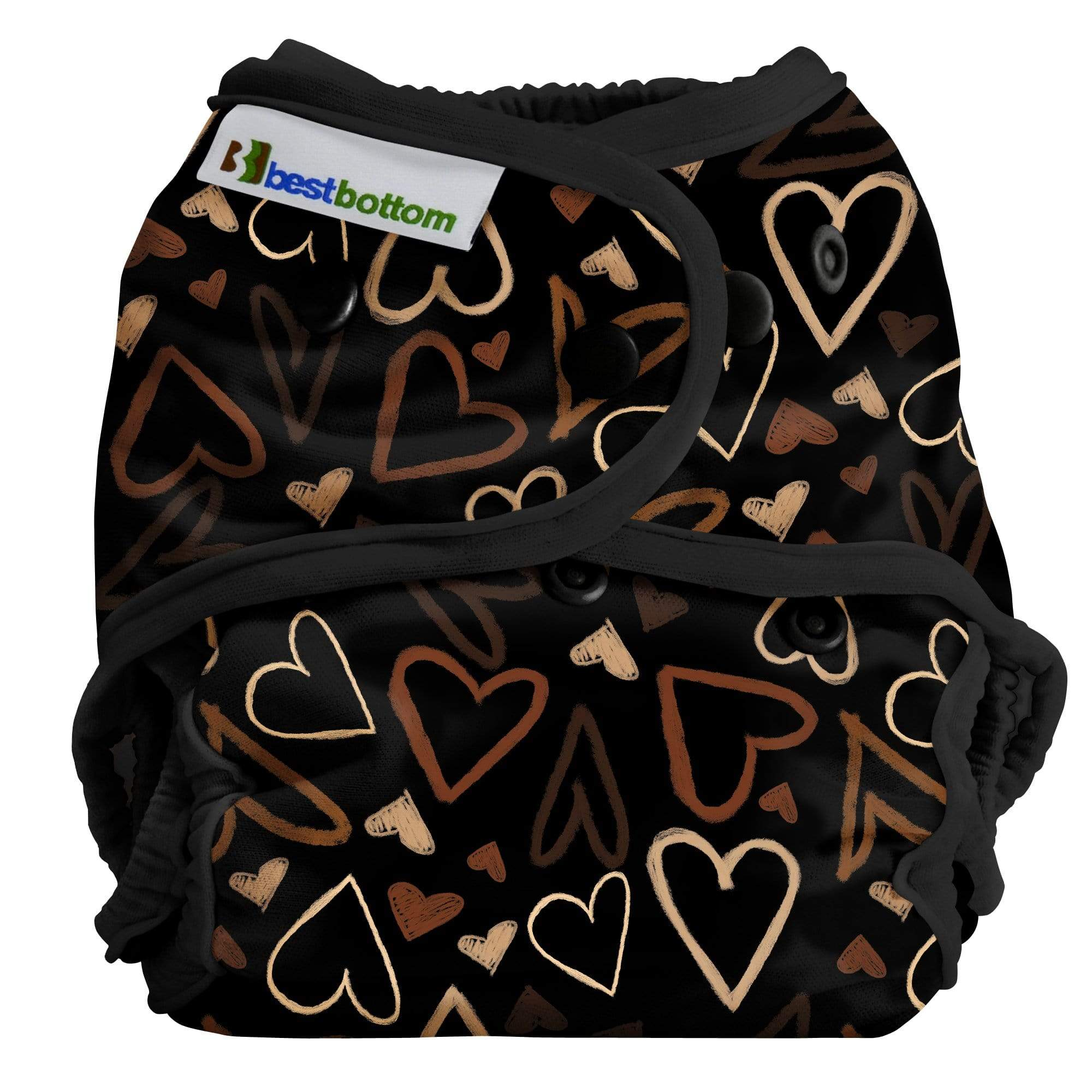 Best Bottom All In Two Diaper Cover - Hearts United One Size